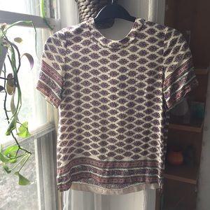 Tops - Madewell 100% silk short sleeve print blouse